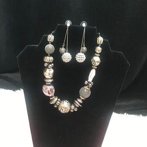 Premier Designs Eclectic necklace & cute earrings